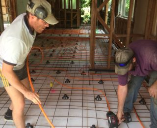 Underfloor going into an existing house earthquake fix up